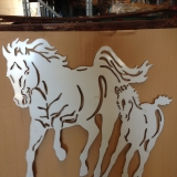 Stainless Horses laser cut