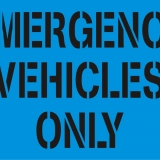 EMERGENCY VEHICLES ONLY block