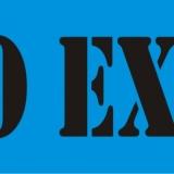 NO EXIT serif