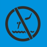 NO SWIMING symbol