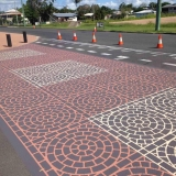 Hervey Bay Brick N Pave Stencil pin wheels